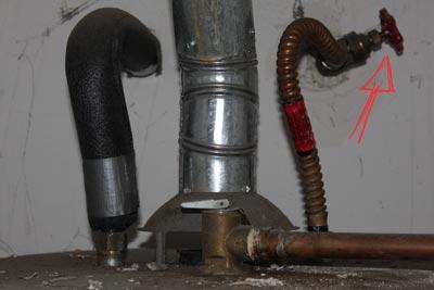 water heater shutoff valve