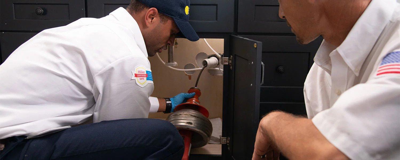 basic plumbing at sink