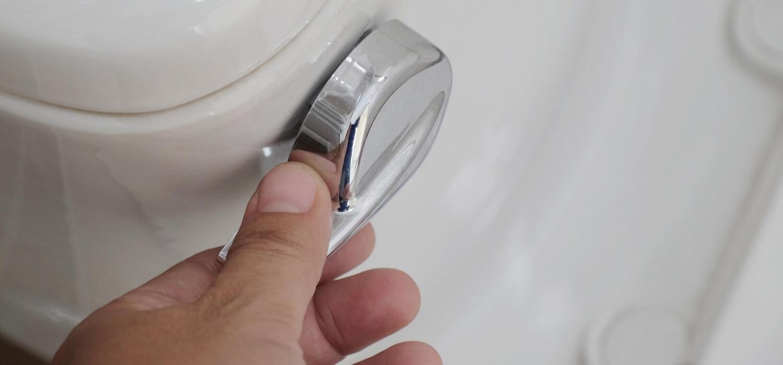 flushing hard water down toilet