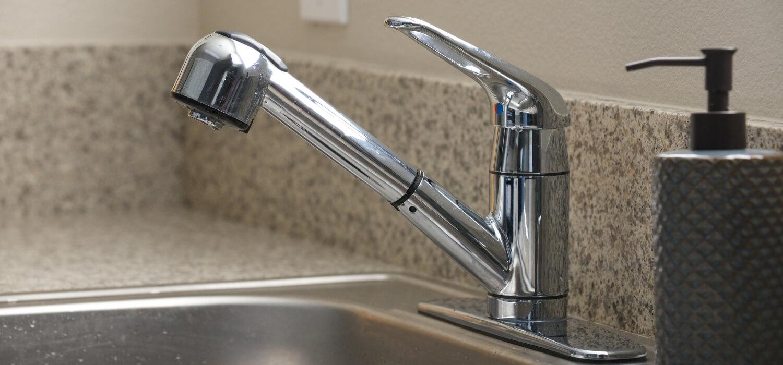Kitchen Sink with No Water